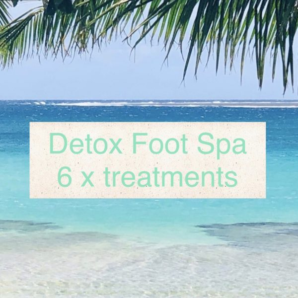 Course of six detox foot spa treatments