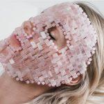 Face with Rose Quartz face mask